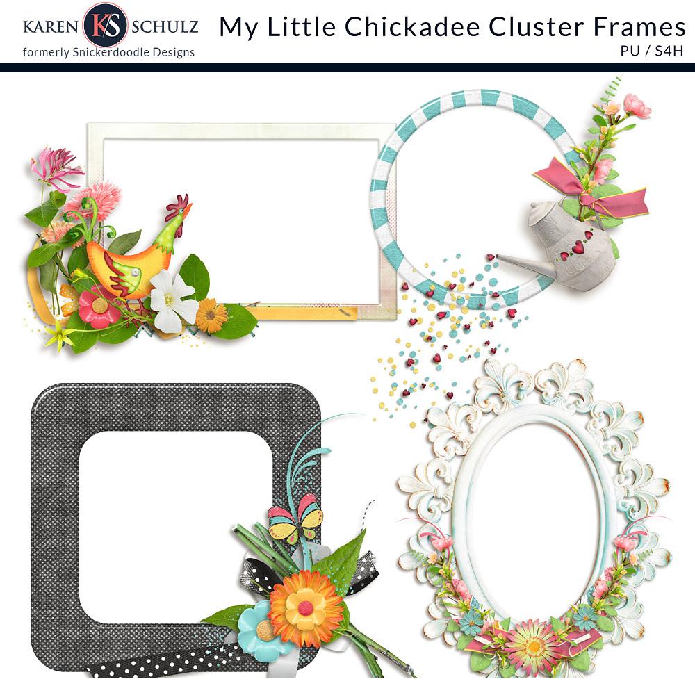 My Little Chickadee Cluster Frames