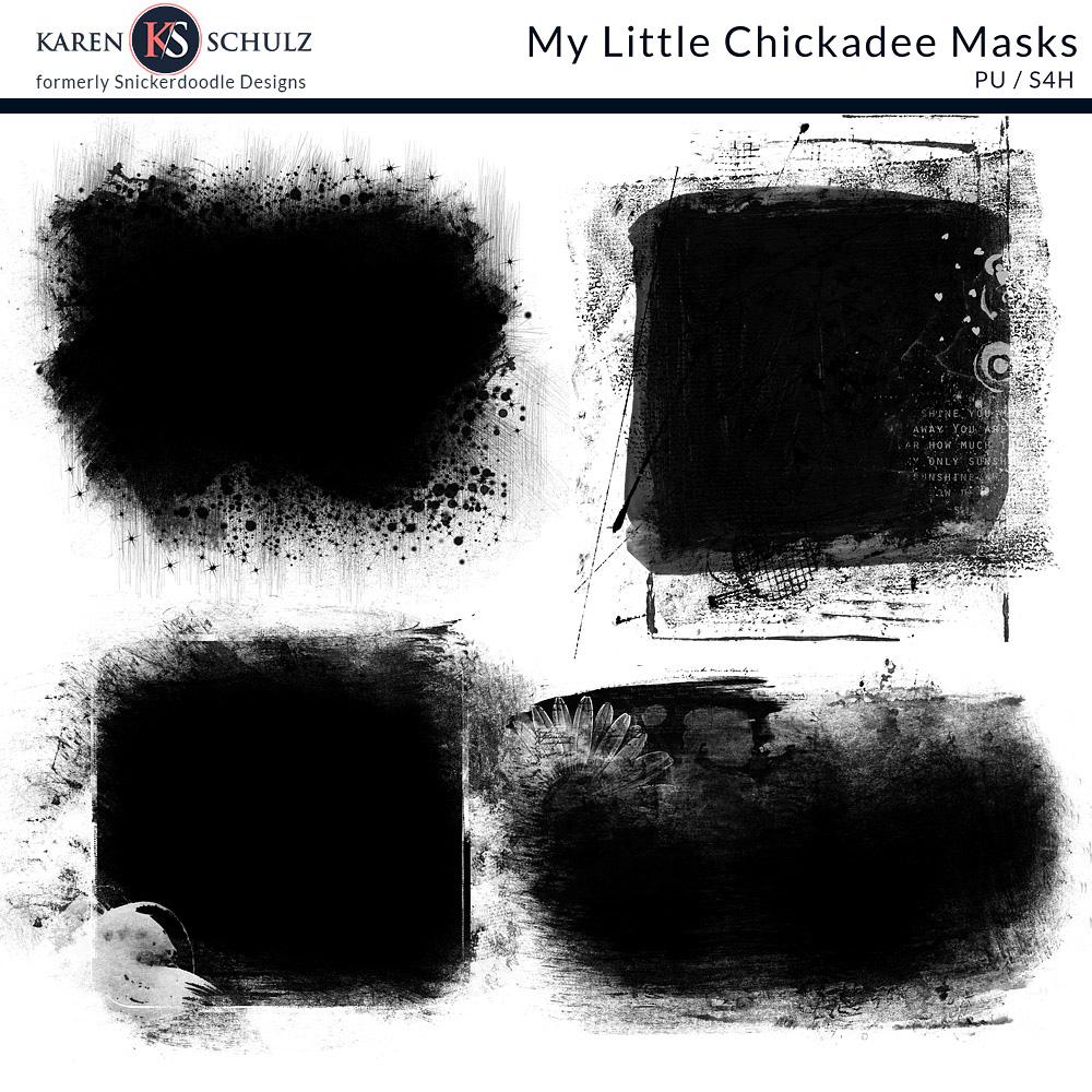My Little Chickadee Masks