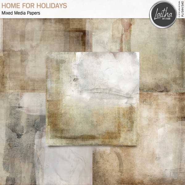 Home For Holidays - Mixed Media Papers