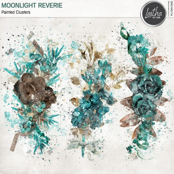 Moonlight Reverie - Painted Clusters