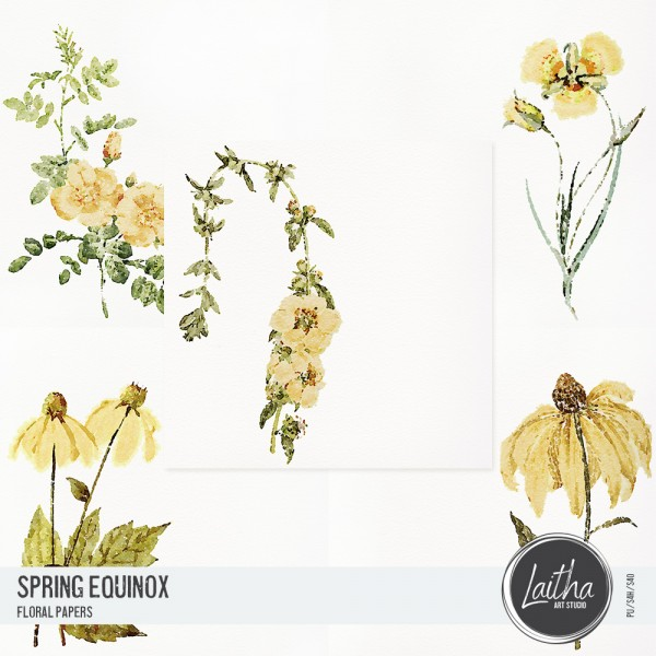 Spring Equinox - Floral Papers