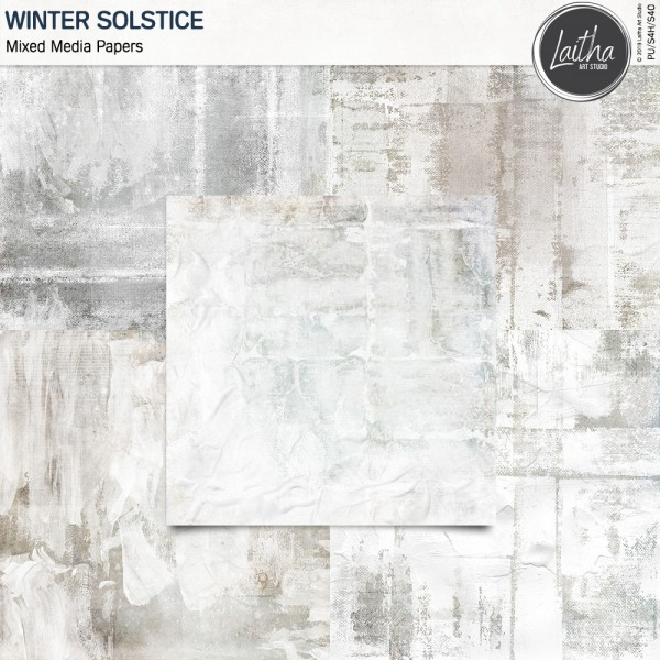 Winter Solstice - Mixed Media Papers