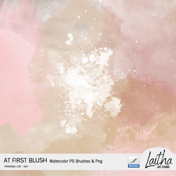 At First Blush - Watercolor Brushes & Stamps