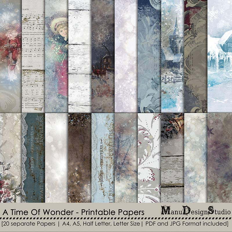 A Time Of Wonder - Printable Papers