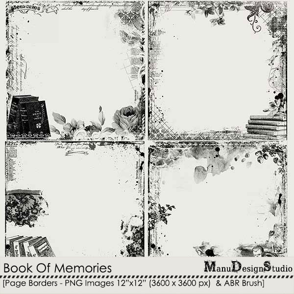 Book Of Memories - Page Borders