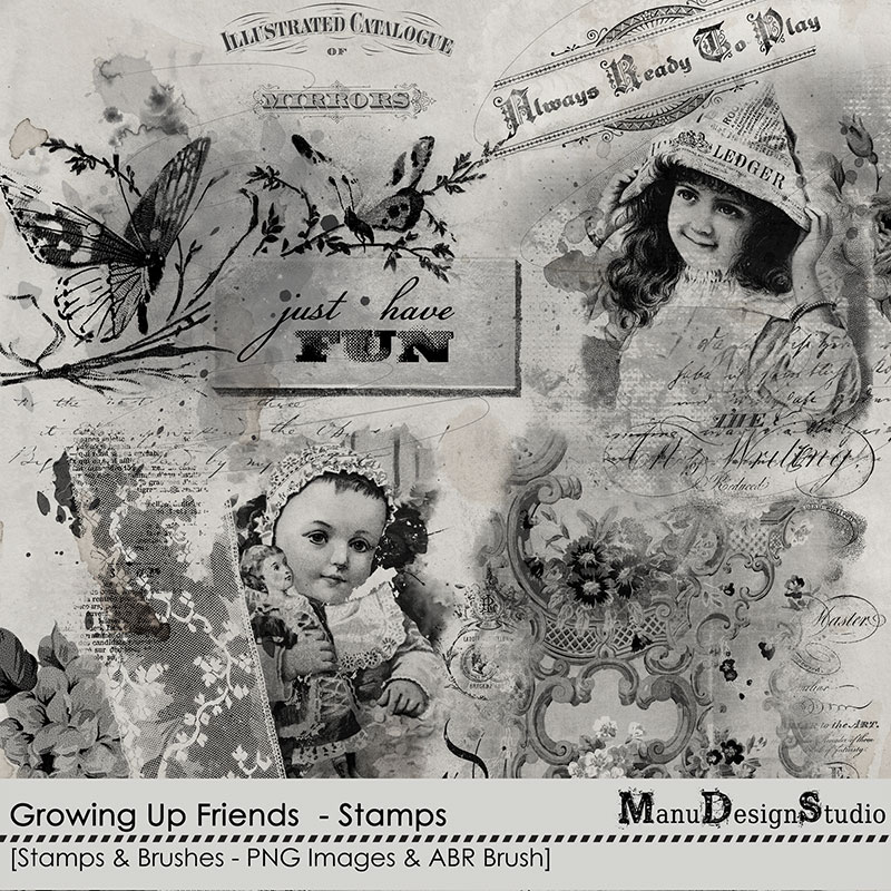Growing Up Friends - Stamps