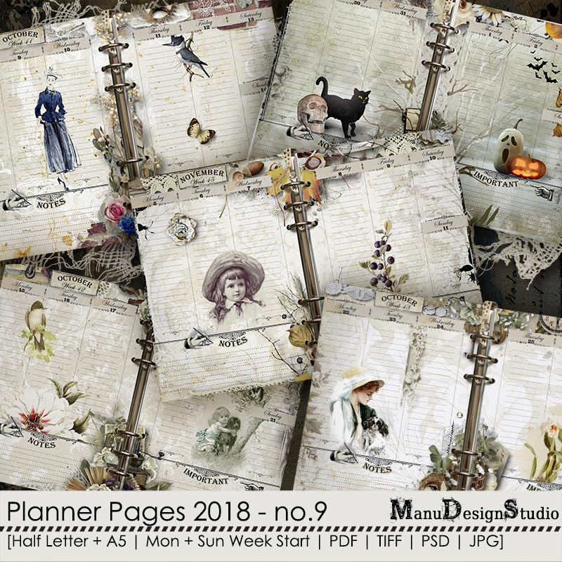 Printable Planner Pages 2018 - No. 9