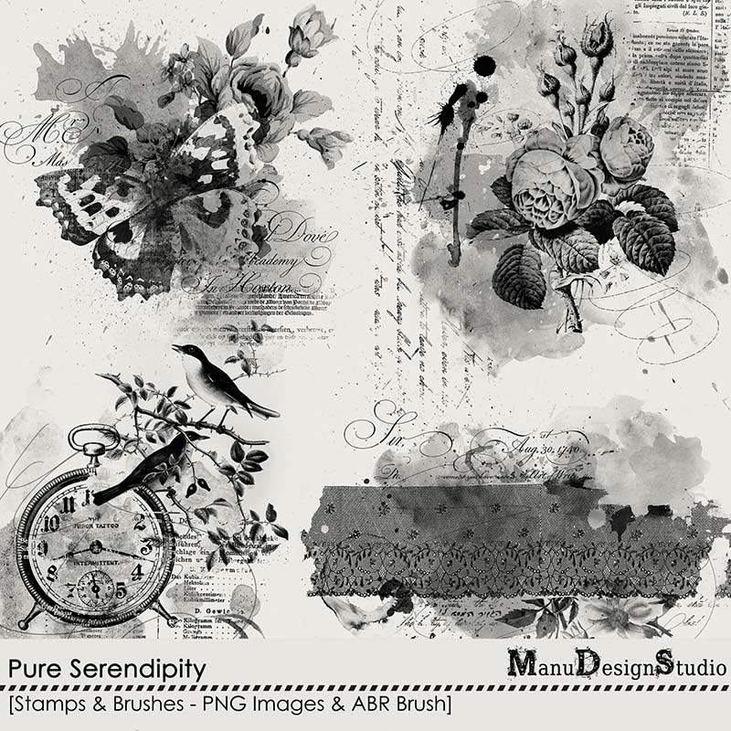 Pure Serendipity - Stamps