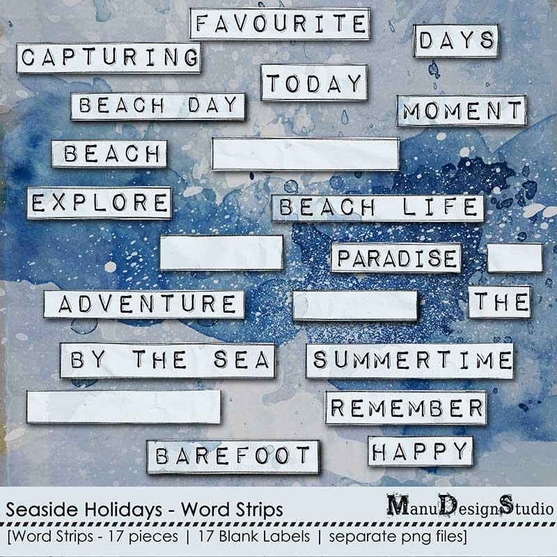 Seaside Holidays - Word Strips