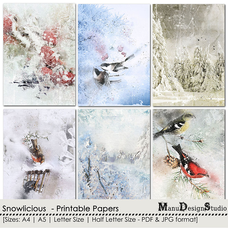 Snowlicious - Printable Papers