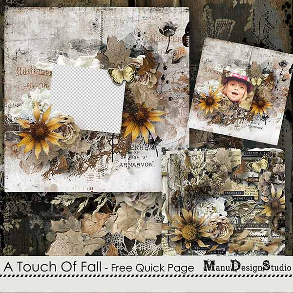 A Touch Of Fall - Free Quick Page
