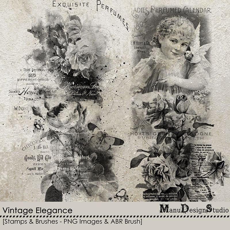 Vintage Elegance - Stamps