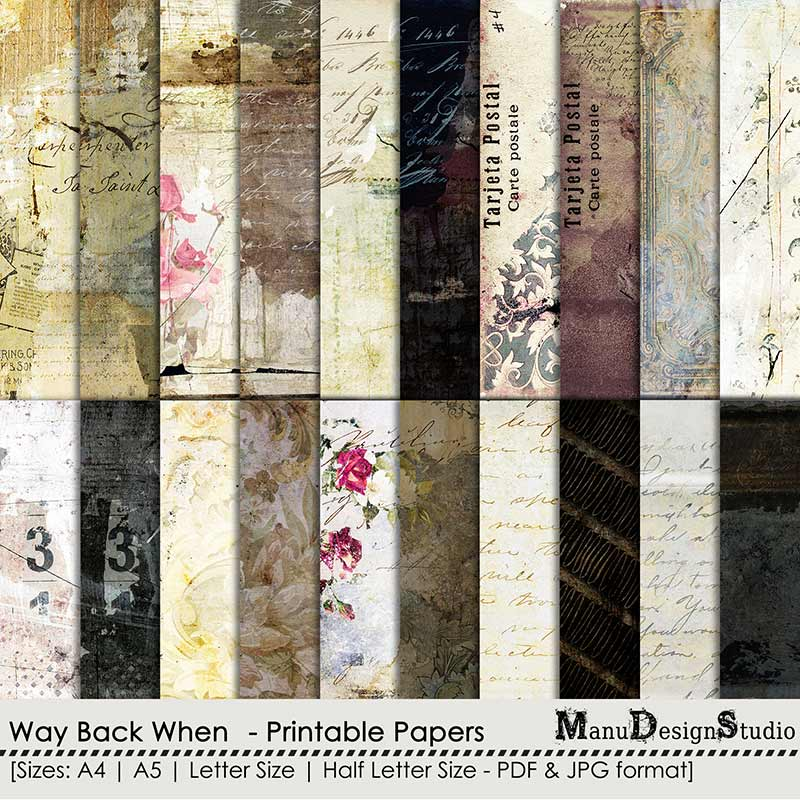 Way Back When - Printable Papers
