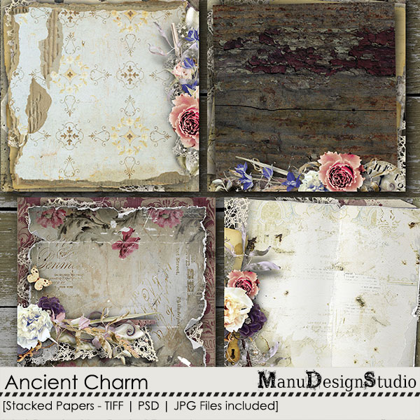 Ancient Charm - Stacked Papers