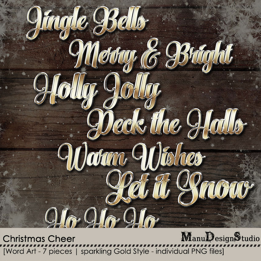 Christmas Cheer - Word Art