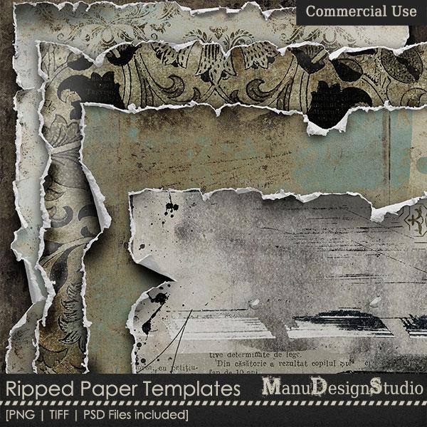 Ripped Paper Templates  1 - CU