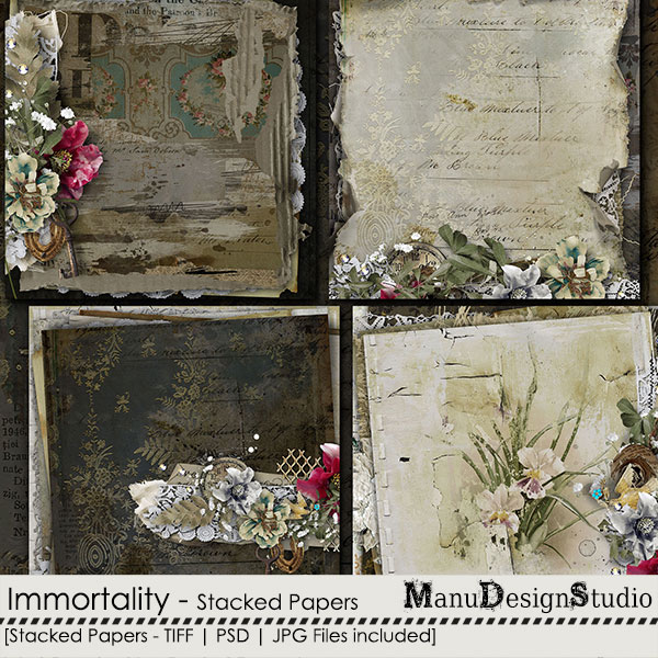 Immortality - Stacked Papers