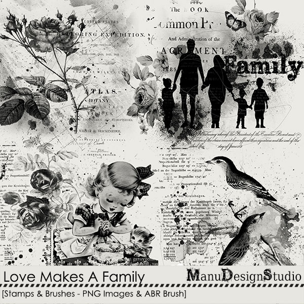 Love Makes A Family - Stamps