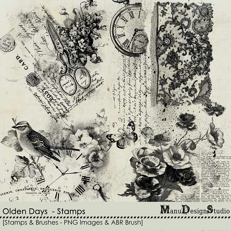 Olden Days - Stamps & Brushes