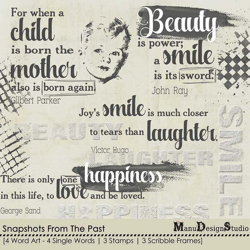 Snapshots From The Past - Word Art