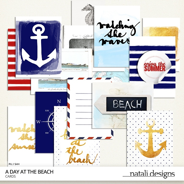 A day at the beach Cards