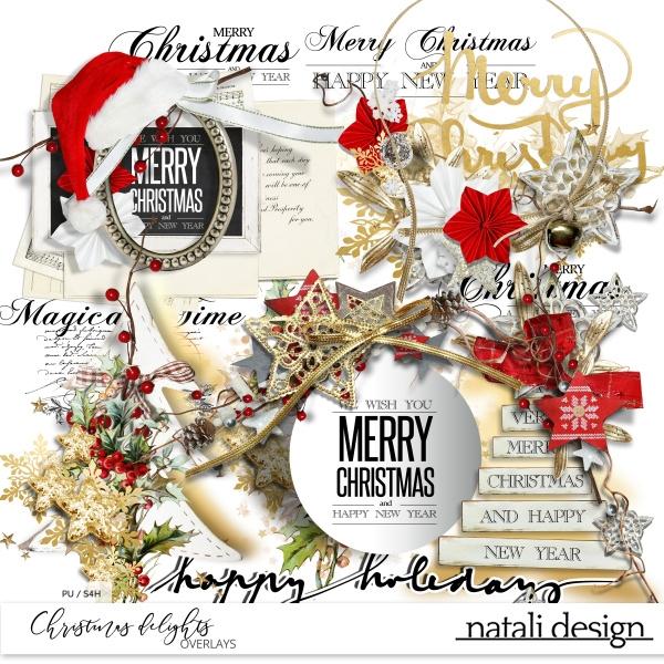 Christmas Delights Overlays
