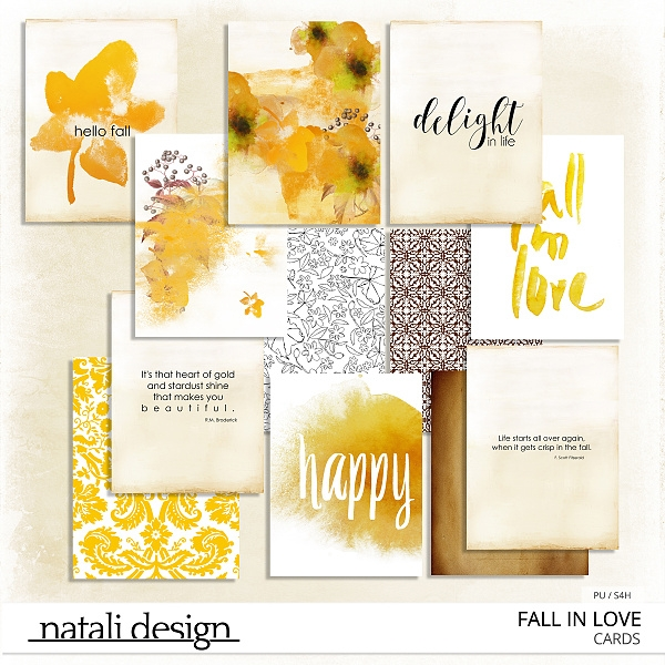 Fall in Love Journal Cards