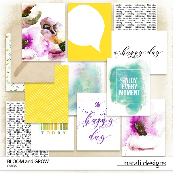 Bloom and Grow Journal Cards