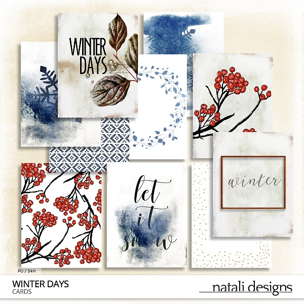 Winter Days Journaling Cards