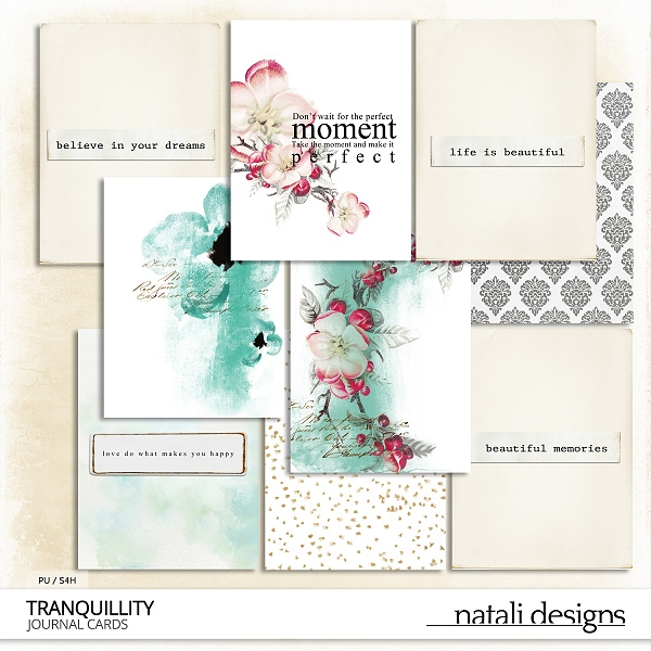 Tranquillity Journaling Cards