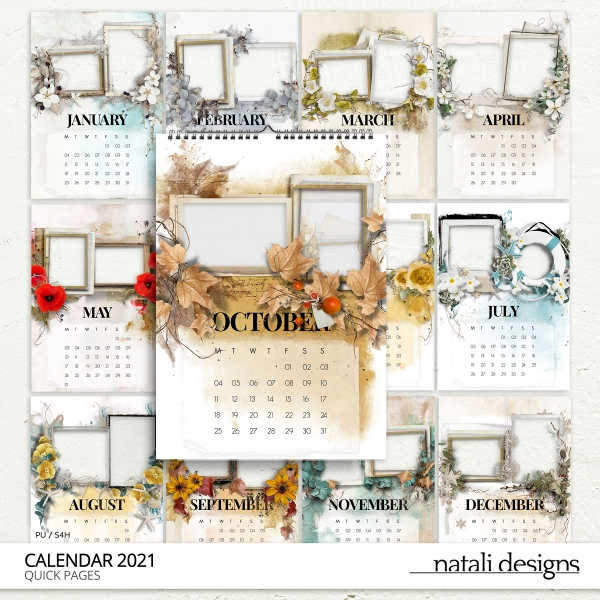 2021 Calendar Quick Pages TWO