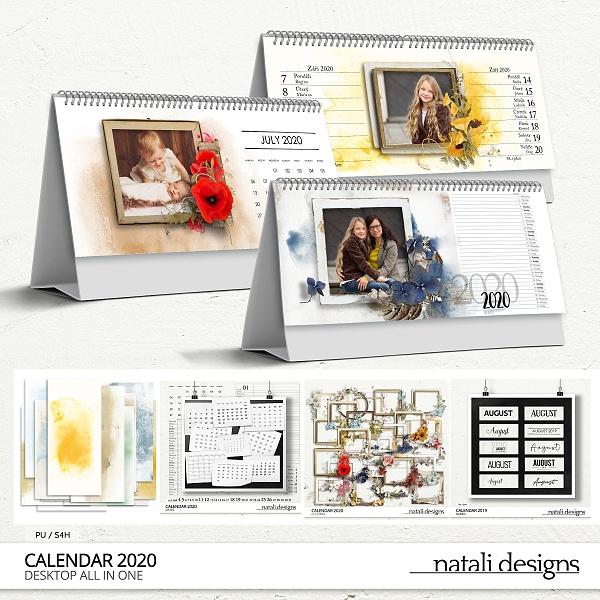 2020 Calendar Table Bundle