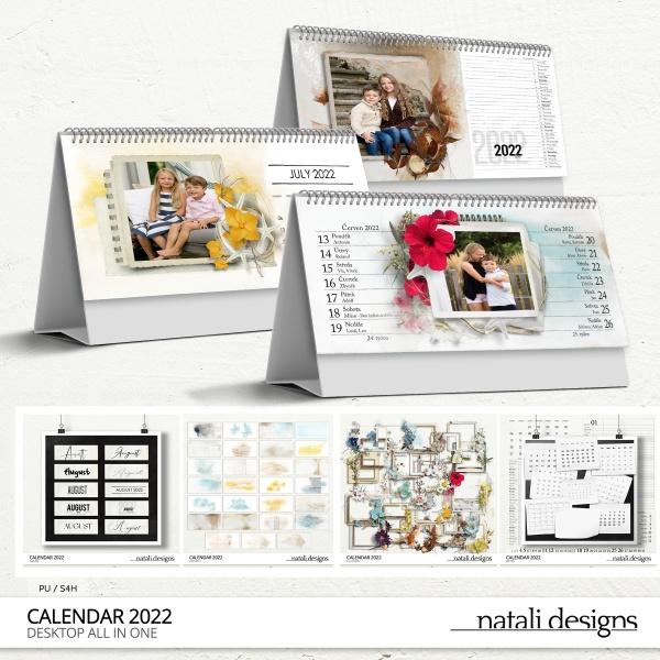 2022 Calendar Table Bundle