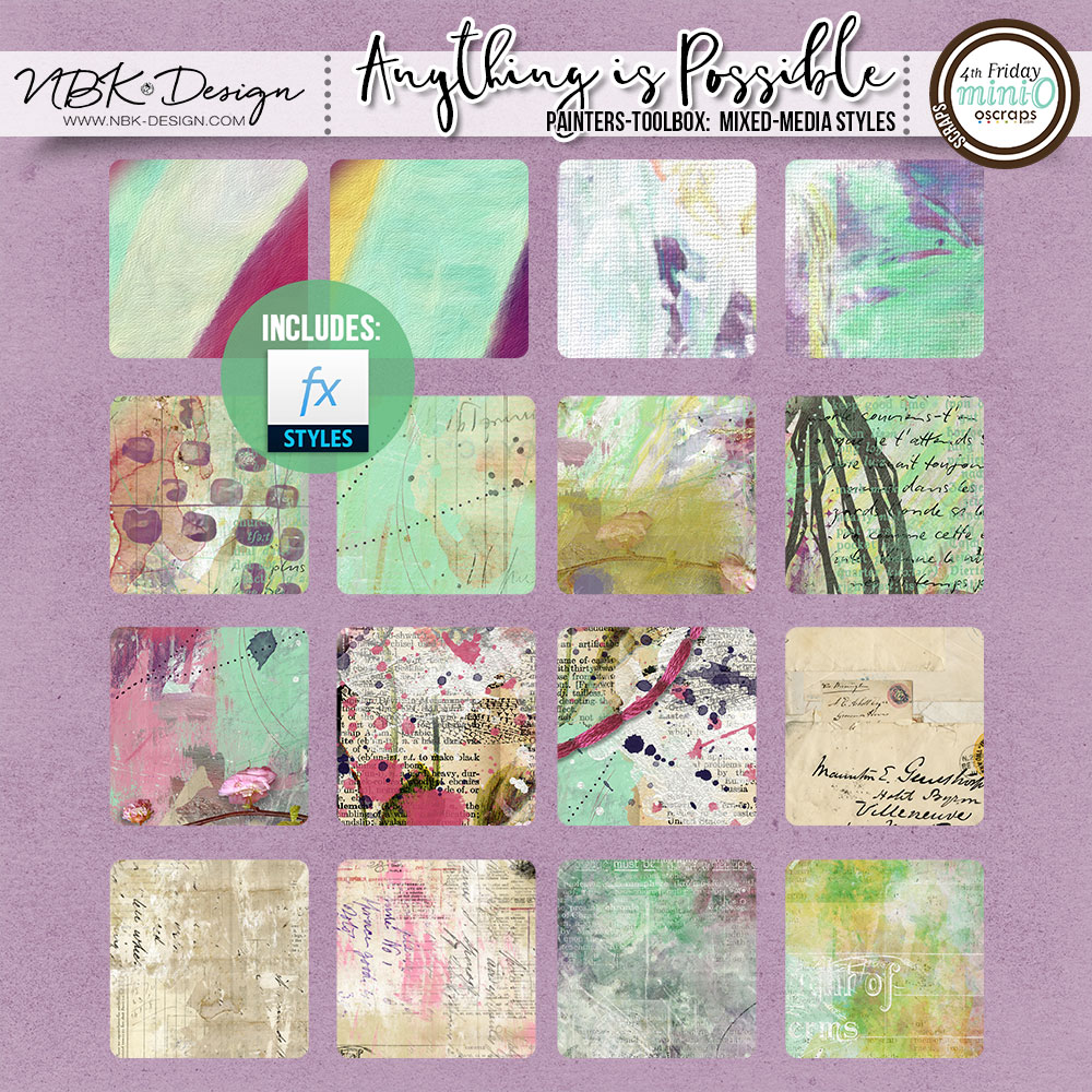 Anything is Possible {Painters-Toolbox: Mixed-Media Styles}