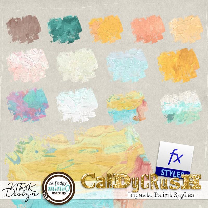 Candy Crush {Impasto Paint Styles}
