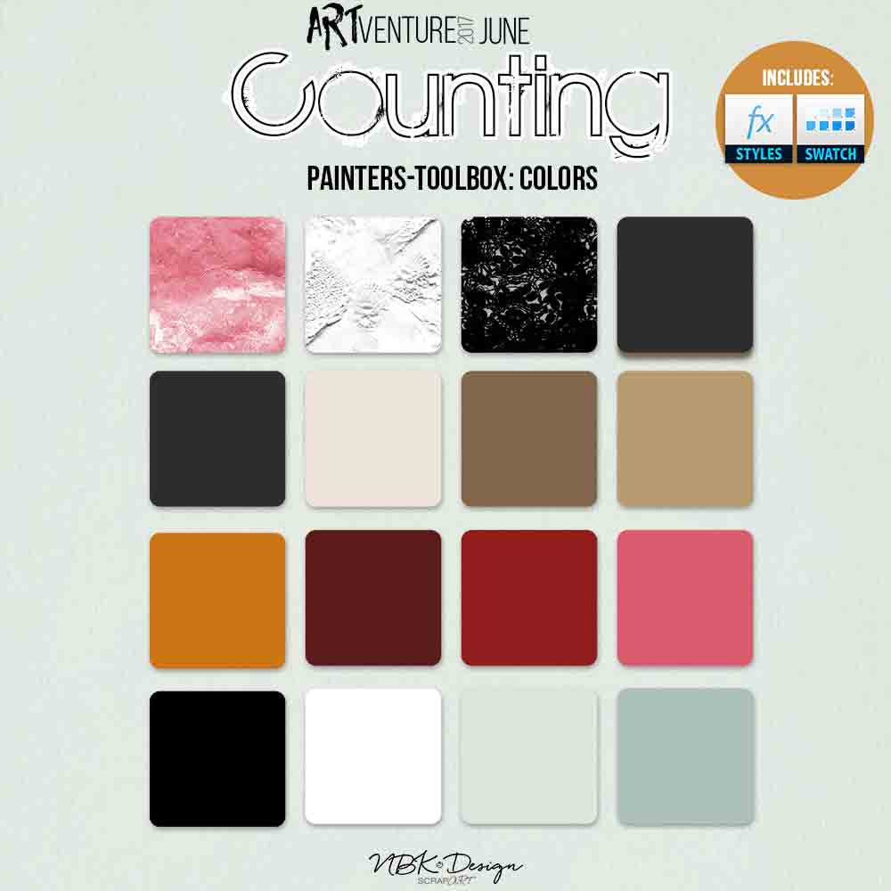 Counting {Painters-Toolbox: Colors}