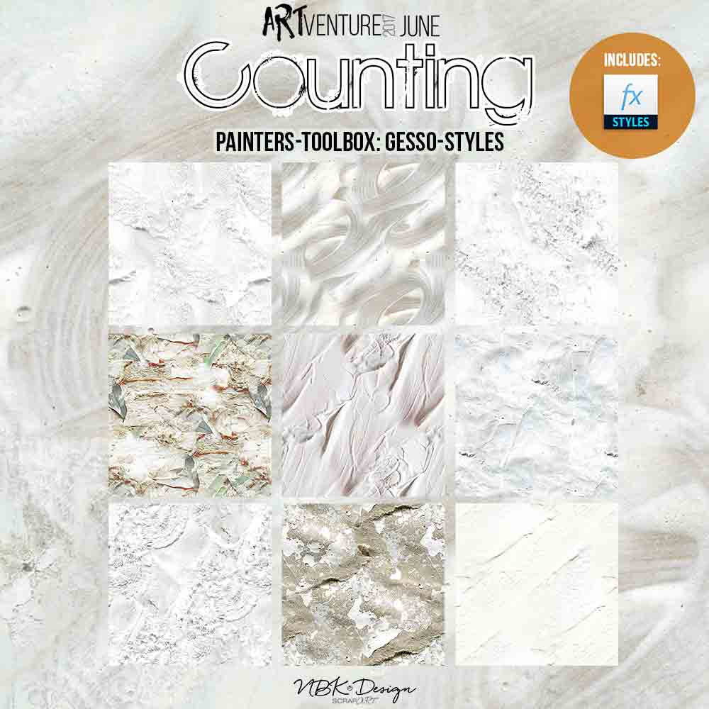 Counting {Painters-Toolbox: Gesso Styles}