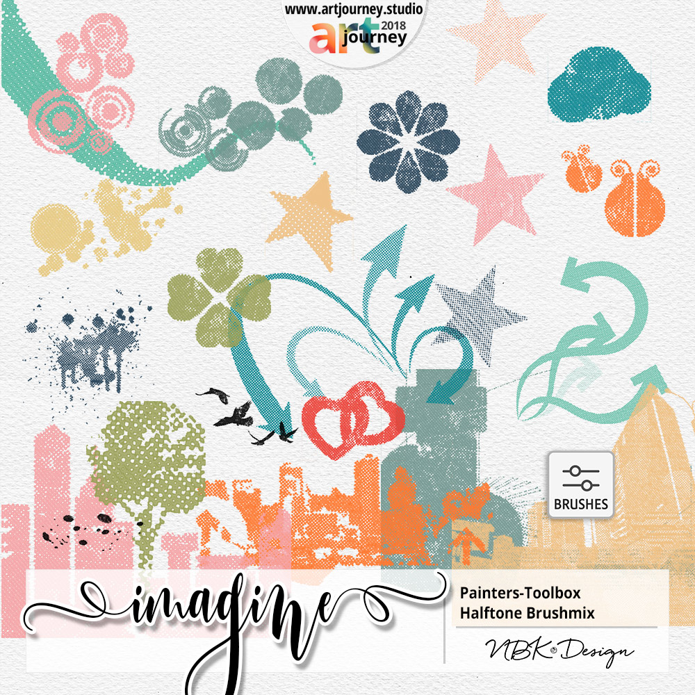 IMAGINE {Painters-Toolbox: Halftone Brushmix – Brushes and Stamps}