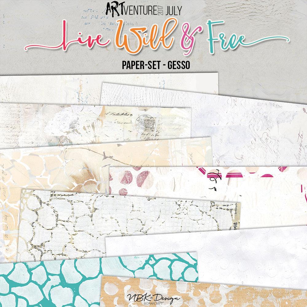 Live Wild & Free {Paper-Set: Gesso}