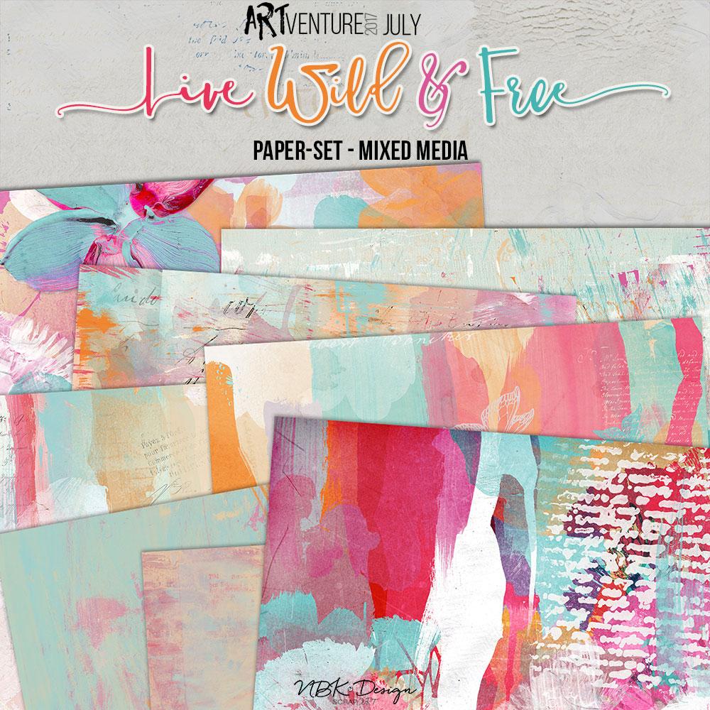 Live Wild & Free {Paper-Set: MixedMedia}