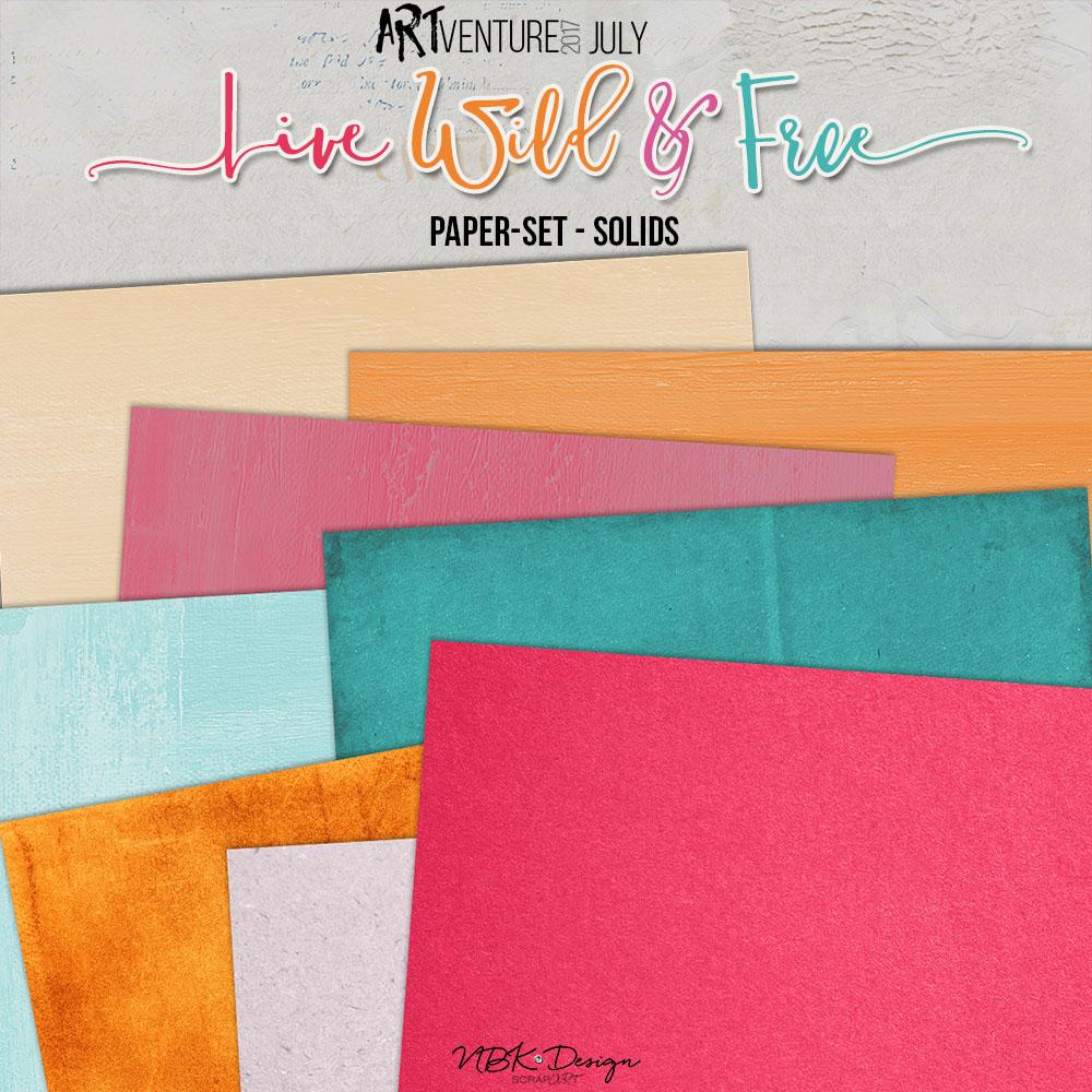 Live Wild & Free {Paper-Set: Solids}