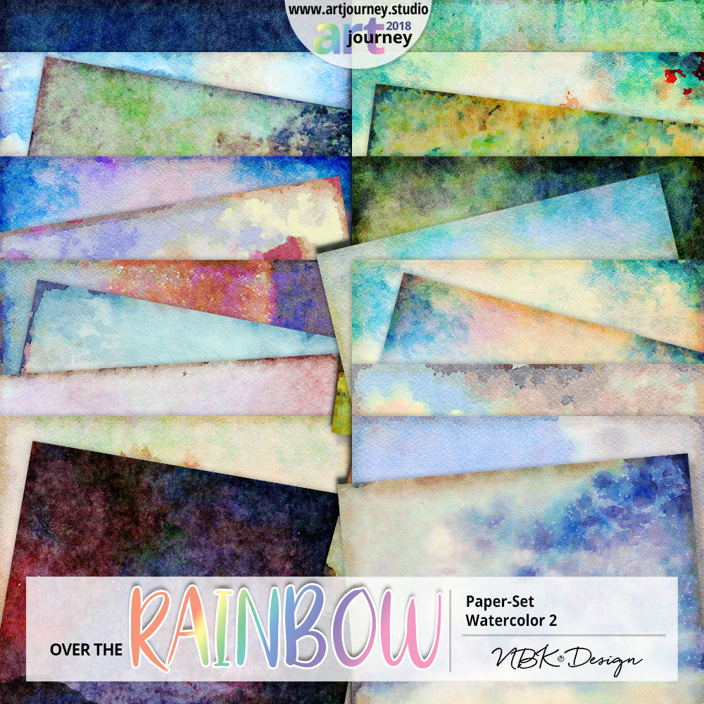 Over the Rainbow {Paperset: Watercolor2}