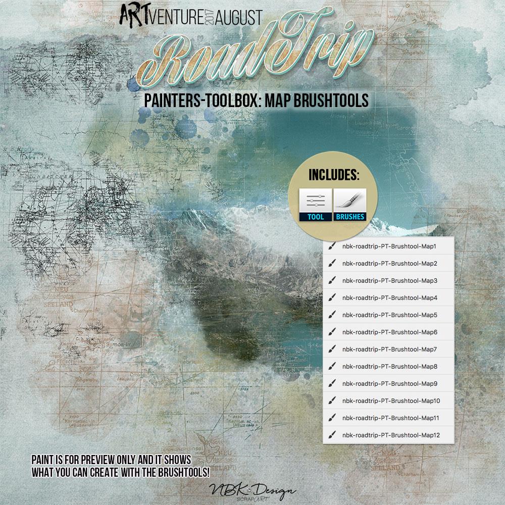 Roadtrip {Painters-Toolbox: Brushtool Maps}