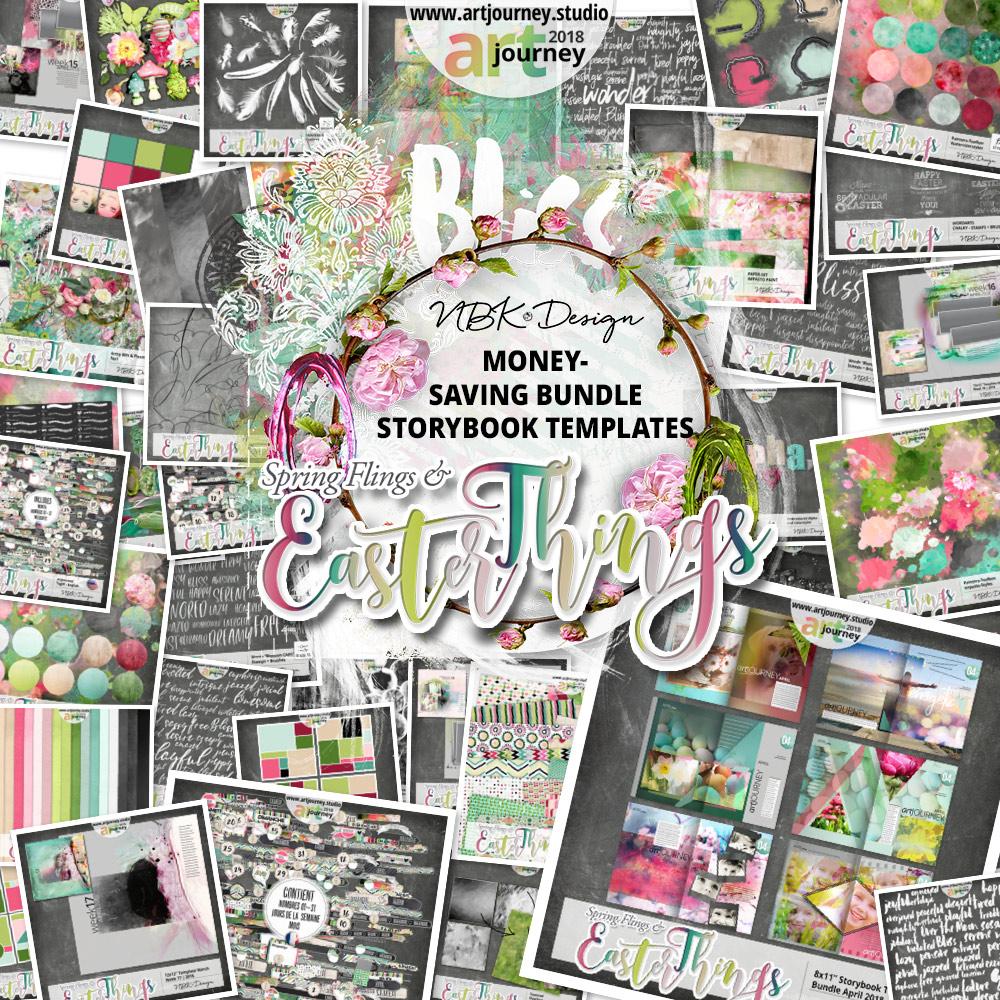 Spring Flings & Easter Things {Bundle Up! Storybook Templates}