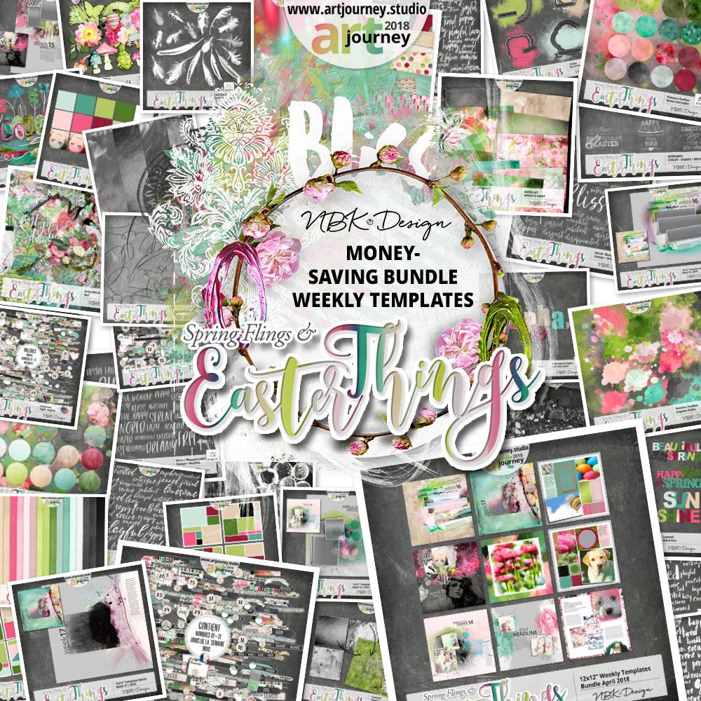 Spring Flings & Easter Things {Bundle Up! Weekly Templates}
