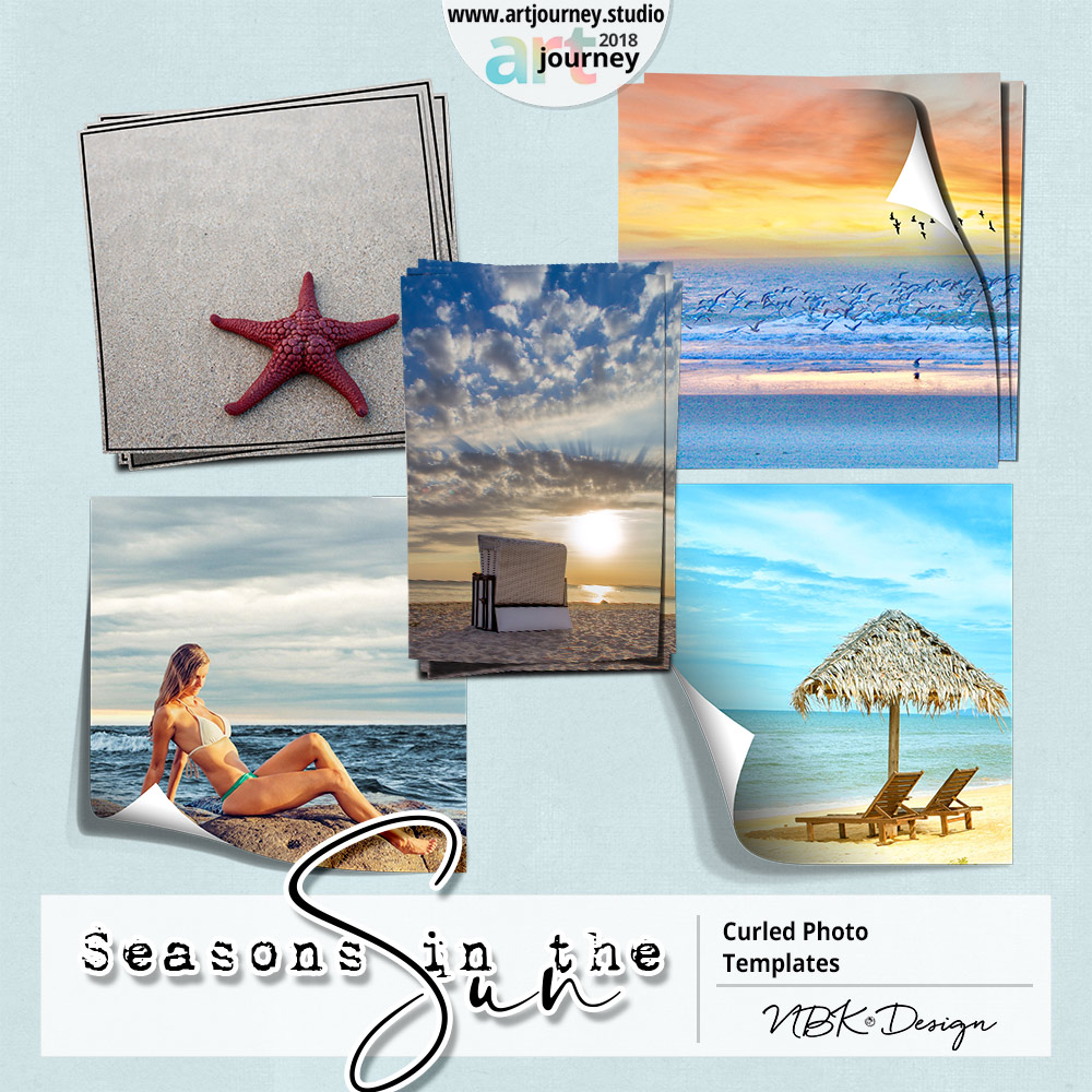 SEASONS IN THE SUN {Curled Paper Templates}