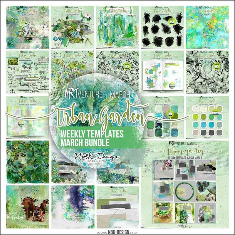 Urban Garden {Megabundle Weekly Templates March 2017 | Weeks 10 – 13}