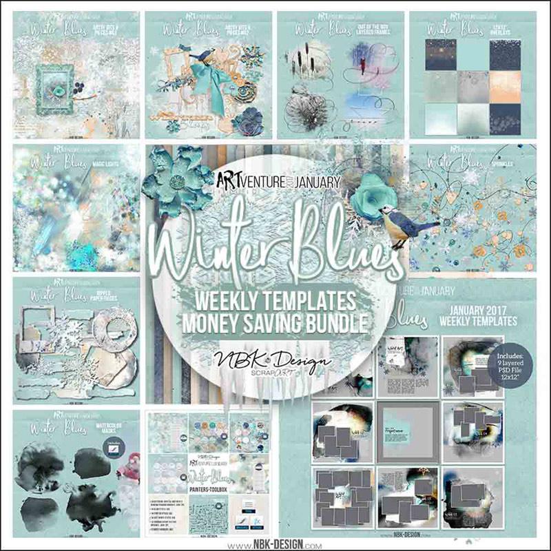 Winter Blues {Megabundle Weekly Templates January 2017}