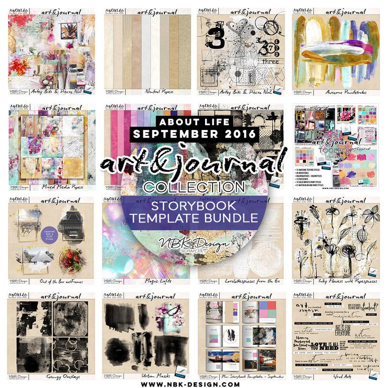 art & journal {Megabundle Storybook Templates 2016}