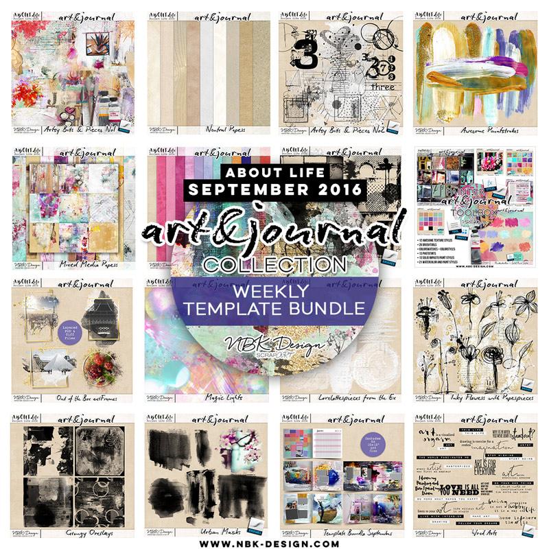 art & journal {Megabundle Weekly Templates September 2016}